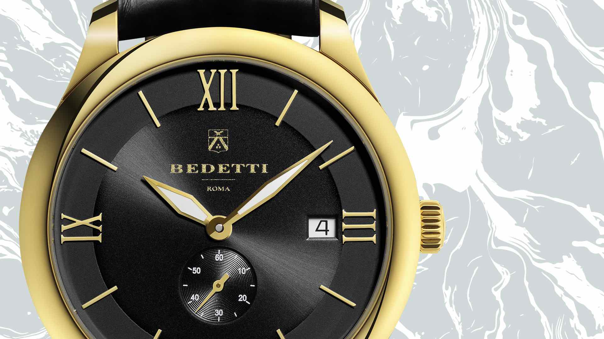 Total gold black dial