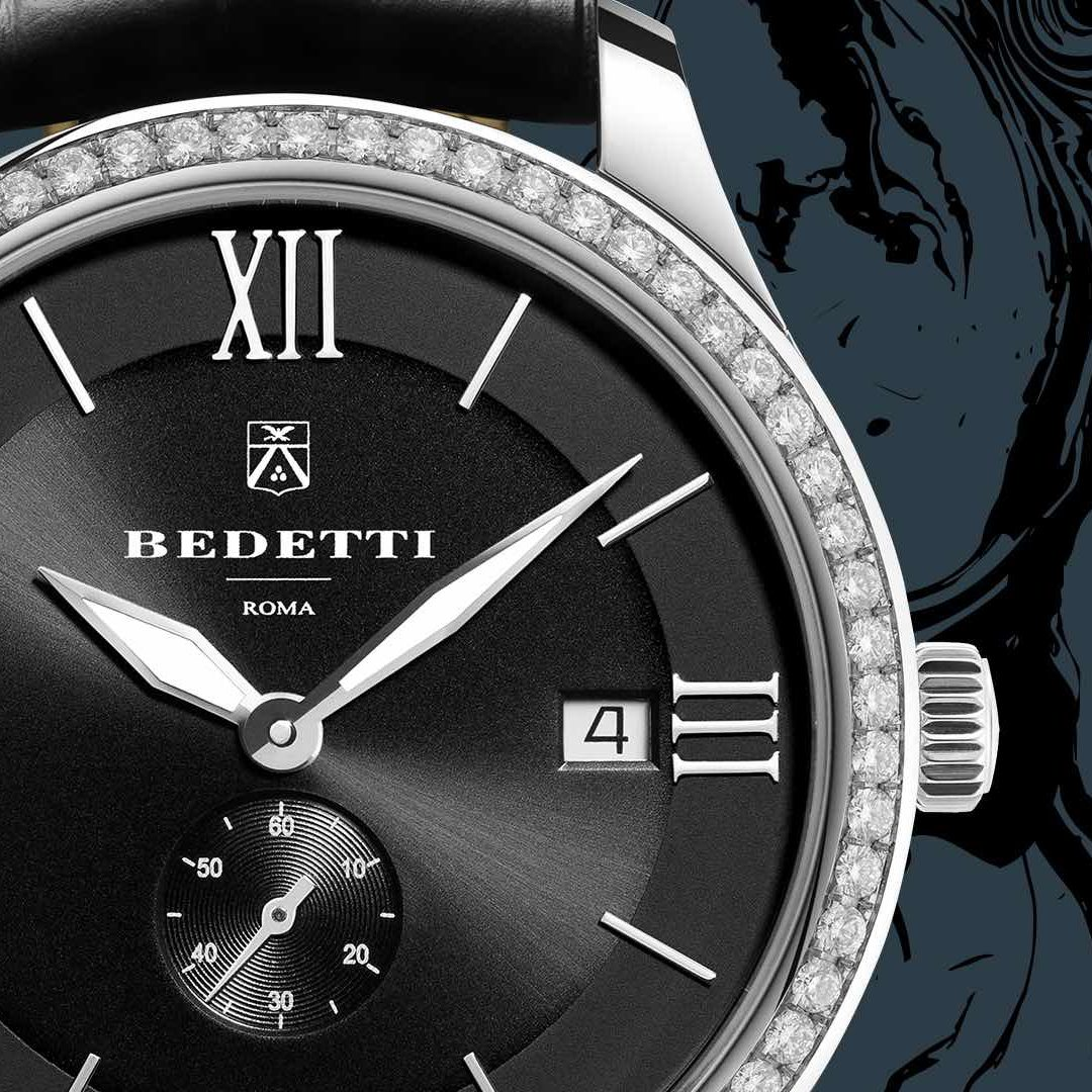 Ferro diamonds black dial