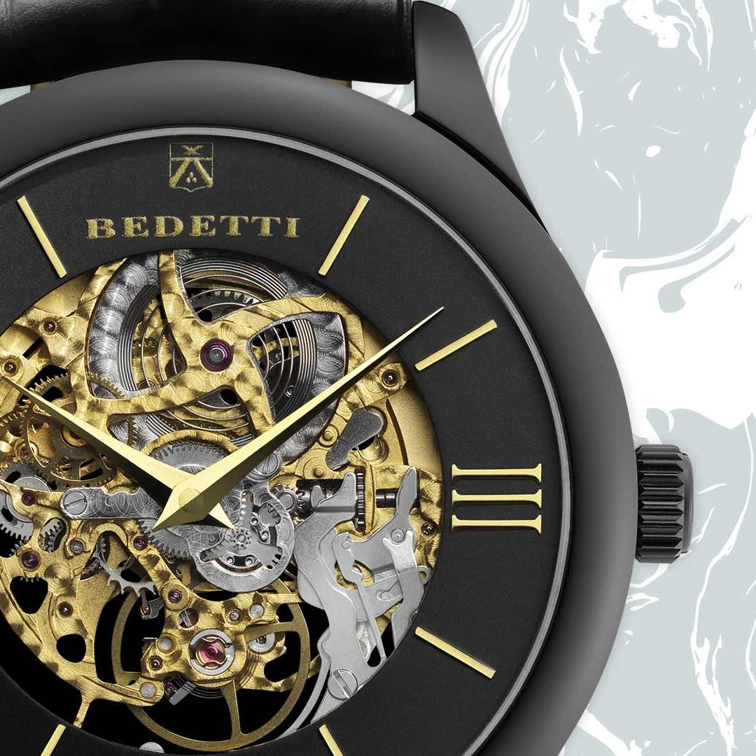 Ferro skeleton gold total black