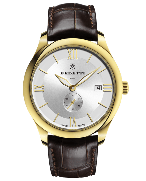 Total gold white dial